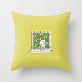 Plenty of imagination: woman in the jungle. Throw Pillow