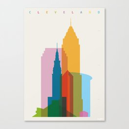 Shapes of Cleveland accurate to scale Canvas Print