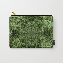 SEA FOAM FROTHY BLUE-GREEN SUCCULENTS Carry-All Pouch