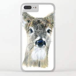 Doe Eyes by Teresa Thompson Clear iPhone Case