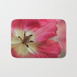 Neon Pink Tulip Flower Passion Bath Mat