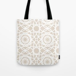 Palm Springs Macrame Lattice Lace Tote Bag
