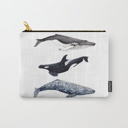Orca, humpback and grey whales Carry-All Pouch