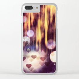 Falling hart Clear iPhone Case