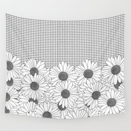 Daisy Grid Wall Tapestry