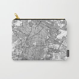 Mexico City White Map Carry-All Pouch