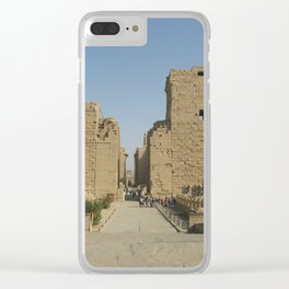 Temple of Karnak at Egypt, no. 4 Clear iPhone Case