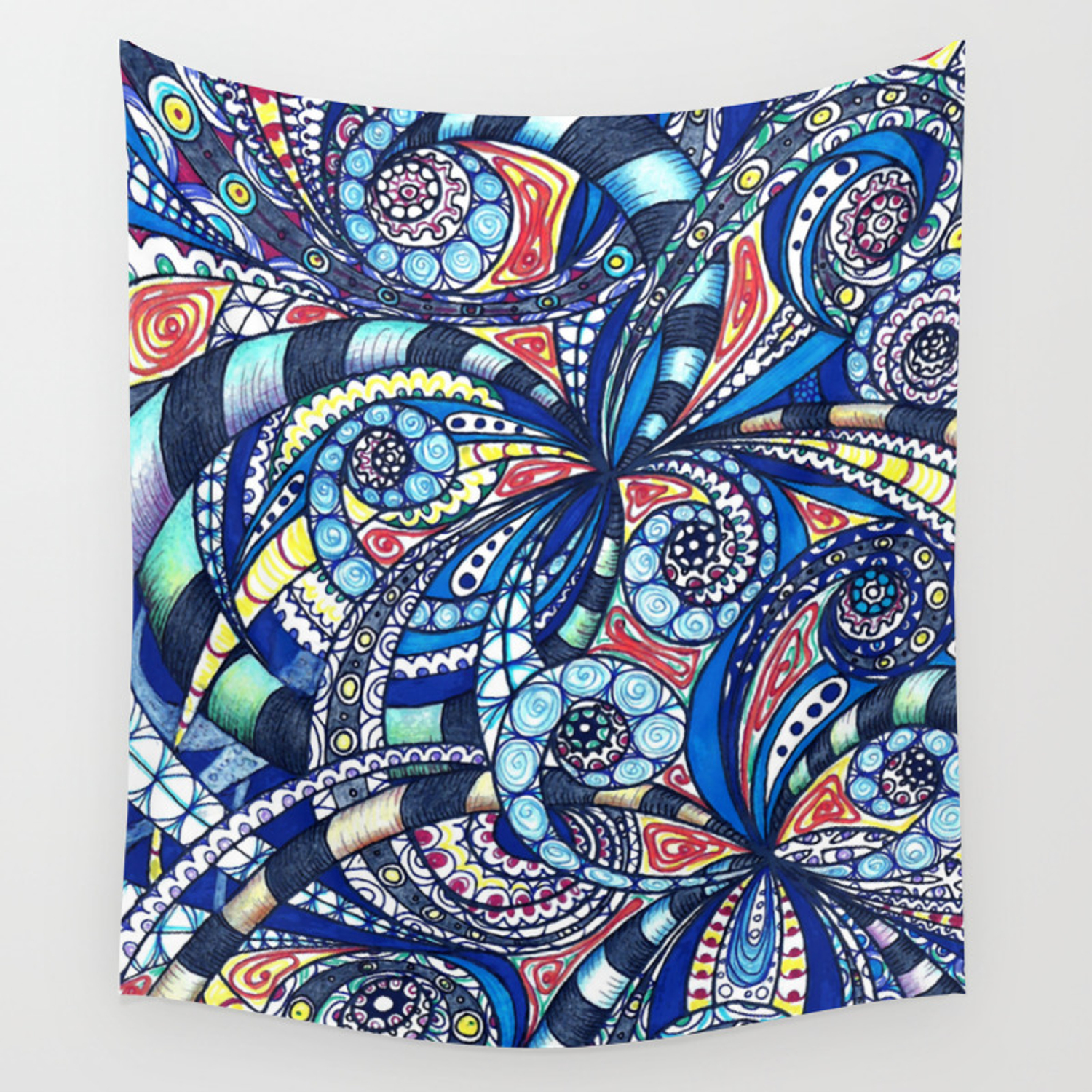 Drawing Floral Abstract Background G7 Wall Tapestry By Medusa81