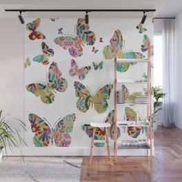 otomi butterflies Wall Mural