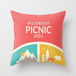Wilderness: Picnic Throw Pillow