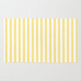 Modern geometrical baby yellow white stripes pattern Rug