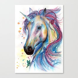 Whimsical Unicorn Canvas Print