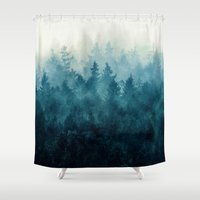 black Shower Curtains featuring The Heart Of My Heart // So Far From Home Edit by Tordis Kayma