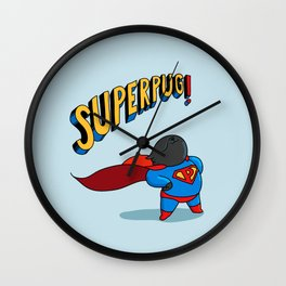 superpug! Wall Clock