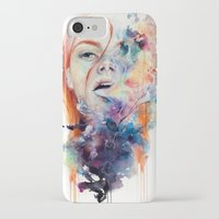fish iPhone & iPod Cases featuring this thing called art is really dangerous by agnes-cecile