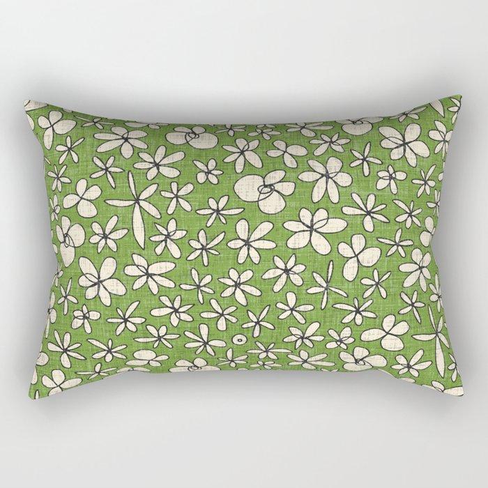 garland flowers green Rectangular Pillow
