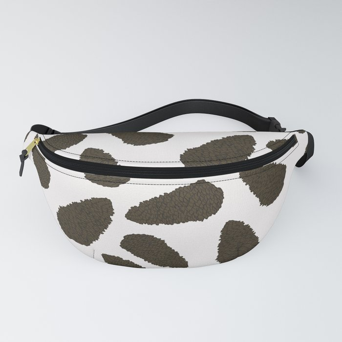 Tree Patterns: White Pinecones Fanny Pack