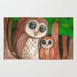 Owl Family Rug