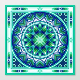 Sacred Places Green Canvas Print