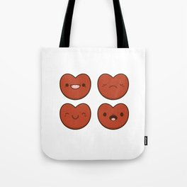 #11 Hearts Tote Bag