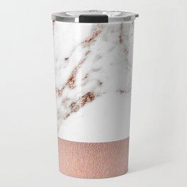 Rose gold marble and foil Travel Mug