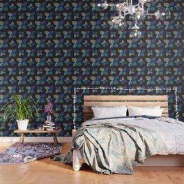 Blue Frond Wallpaper