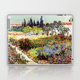 Vincent Van Gogh Flowering Garden Laptop & iPad Skin