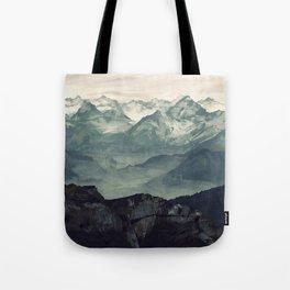 Mountain Fog Tote Bag