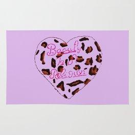 BeautyIsAReligion `Leopard Heart` Rug