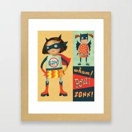 Superhero Girls Framed Art Print