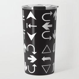 Arrows black and white Travel Mug
