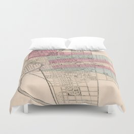 Vintage Map of Columbus Ohio (1868) Duvet Cover
