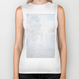 Morning Haze by Claude Monet Biker Tank