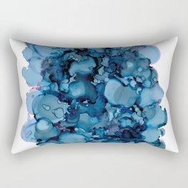 Indigo Abstract Painting | No. 8 Rectangular Pillow