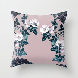 Wild Bee Blackberry Throw Pillow