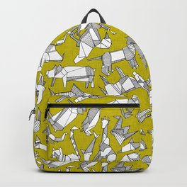 origami animal ditsy chartreuse Backpack