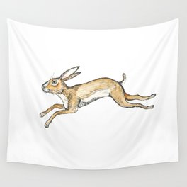 Spring rabbit Wall Tapestry