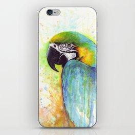 Bird Watercolor Animal Macaw iPhone Skin