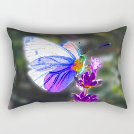 Butterfly on the Lavender Rectangular Pillow