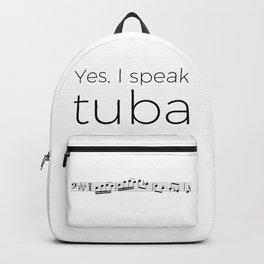I speak tuba Backpack