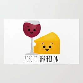 Aged To Perfection - Wine & Cheese Rug