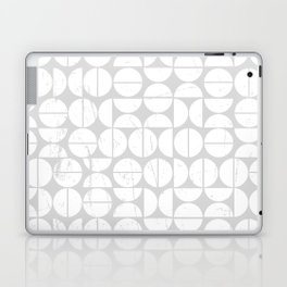 Circle Pattern | 70s Vibes | Puzzle | Grey Art | Abstract Laptop & iPad Skin