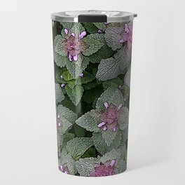 WILD SALVIA MAUVE AND GRAY GREEN Travel Mug