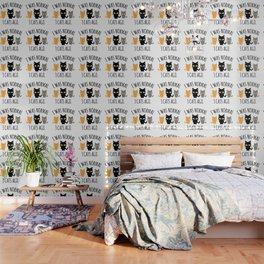 Cat Owner - I Was Normal Three Cats Ago Funny Crazy Cat Lady Gift Wallpaper