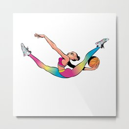 CoolNoodle in rainbow Metal Print