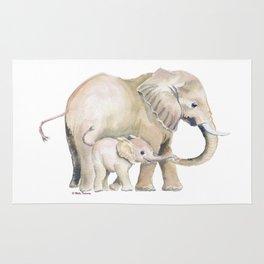 Mom and Baby Elephant 2 Rug