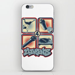 Four Elements of Hip Hop iPhone Skin