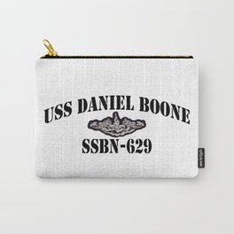 USS DANIEL BOONE (SSBN-629) BLACK LETTERS Carry-All Pouch