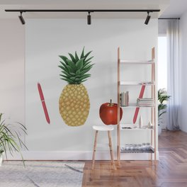 Pen Pineapple Apple Pen - PPAP - Homage - Funny - 57 Montgomery Ave Wall Mural