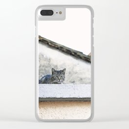 Cat on the Roof Clear iPhone Case
